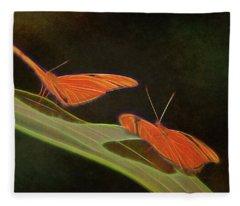 Butterfly Love 1a Fleece Blanket