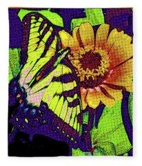 Butterfly Pop Art Fleece Blanket