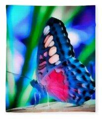 Butterfly Realistic Painting Fleece Blanket