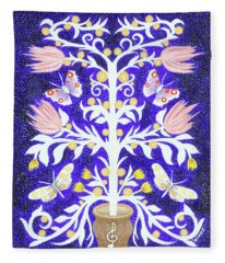 Butterfly Sonata Fleece Blanket
