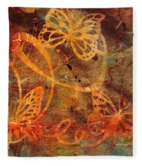 Butterfly Sun Dance Fleece Blanket