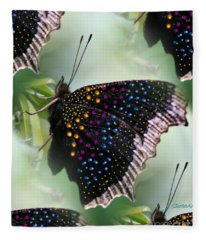 Butterfly Sunbath #2 Fleece Blanket