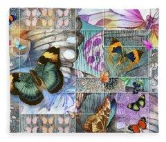 Butterfly Wings Collage Fleece Blanket