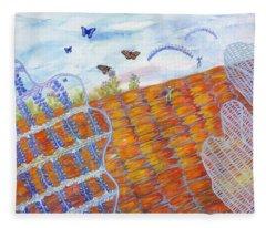 Butterfly's Wings Fleece Blanket