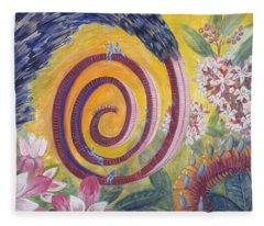 Butterfly's 'tongue' Fleece Blanket