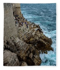 Buza Bar On The Adriatic In Dubrovnik Croatia Fleece Blanket