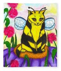 Buzz Bumble Bee Fairy Cat Fleece Blanket