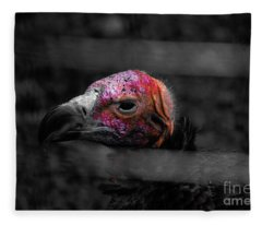 Bw Vulture - Wildlife Fleece Blanket