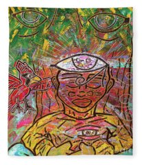 By The Bodhi Tree Fleece Blanket