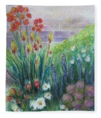 By The Garden Wall Fleece Blanket