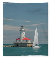 By The Lighthouse Fleece Blanket