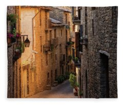By The Town Of Ainsa In The Province Of Huesca Fleece Blanket