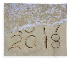 Bye Bye 2017 Welcome2018 Fleece Blanket