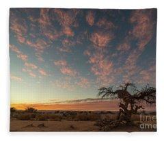 Bye Bye To Sunset Fleece Blanket