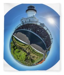 Fleece Blanket featuring the photograph Byron Bay Lighthouse by Chris Cousins