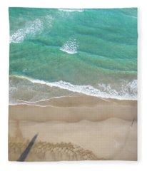 Fleece Blanket featuring the photograph Byron Beach Life by Chris Cousins