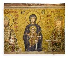 Byzantine Mosaic In Hagia Sophia Fleece Blanket