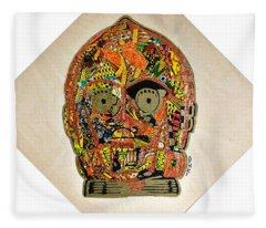 C3po Star Wars Afrofuturist Collection Fleece Blanket