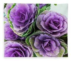 Cabbage Flower Fleece Blanket