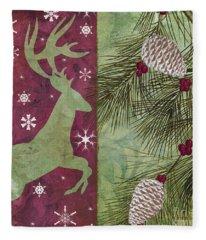 Cabin Christmas II Fleece Blanket