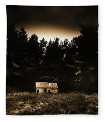 Cabin In The Woodlands  Fleece Blanket