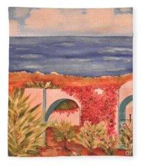 Cabo Garden Fleece Blanket