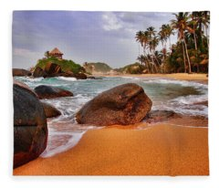 Fleece Blanket featuring the photograph Cabo San Juan by Skip Hunt