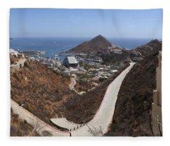 Cabo San Lucas Mexico - Panoramic Fleece Blanket