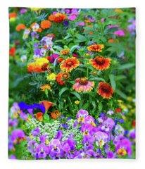 Summer Symphony Of Color Fleece Blanket