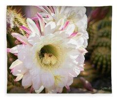 Cactus Bloom 2 Fleece Blanket