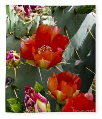 Cactus Blossom Fleece Blanket