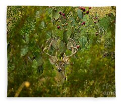 Cactus Buck Fleece Blanket