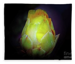 Cactus Flower 7 Fleece Blanket