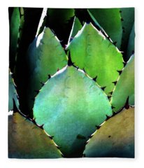 Cactus Leaves Fleece Blanket