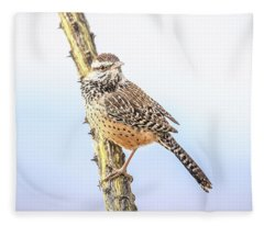 Cactus Wren # 2 Fleece Blanket