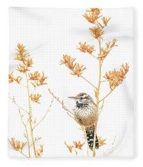 Cactus Wren # 3 Fleece Blanket