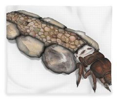 Caddisfly Larva Nymph Goeridae_silo_pallipes -  Fleece Blanket