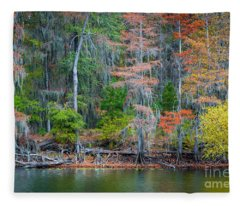 Caddo Lake Fall Foliage Fleece Blanket