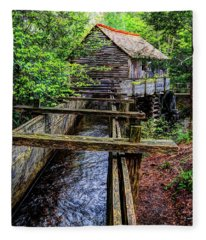 Cades Cove Grist Mill In The Great Smoky Mountains National Park  Fleece Blanket