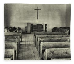 Cades Cove Methodist Church Fleece Blanket
