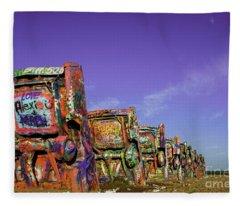 Cadillac Ranch Fleece Blanket