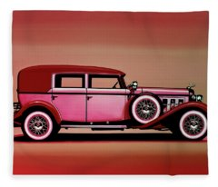 Cadillac V16 Mixed Media Fleece Blanket