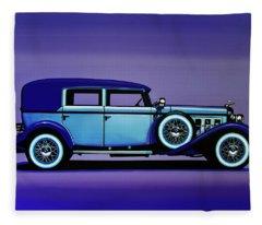 Cadillac V16 1930 Painting Fleece Blanket