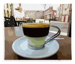 Cafe Bombon Fleece Blanket
