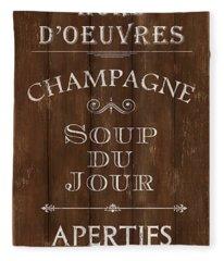 Cafe De Paris 2 Fleece Blanket