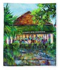 Cafe Du Monde Morning Fleece Blanket