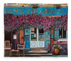 caffe del Aigare Fleece Blanket