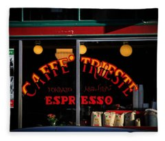 Caffe Trieste Espresso Window Fleece Blanket