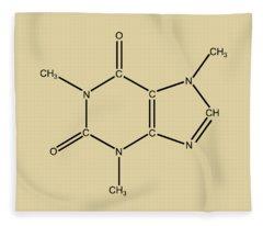 Caffeine Molecular Structure Vintage Fleece Blanket