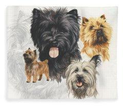 Cairn Terrier Revamp Fleece Blanket